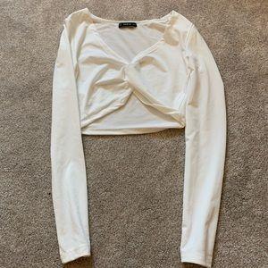 SHEIN white cropped top
